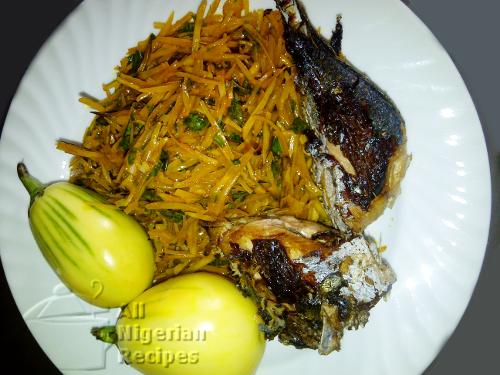 african salad (abacha)