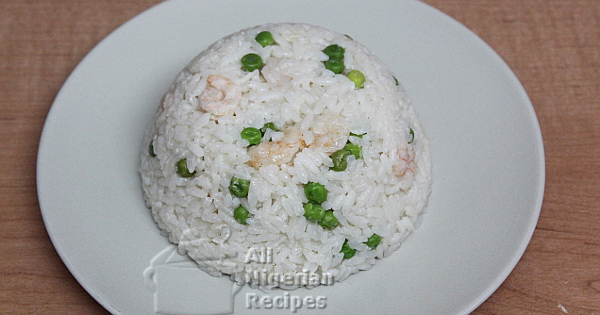 boiled white coconut rice
