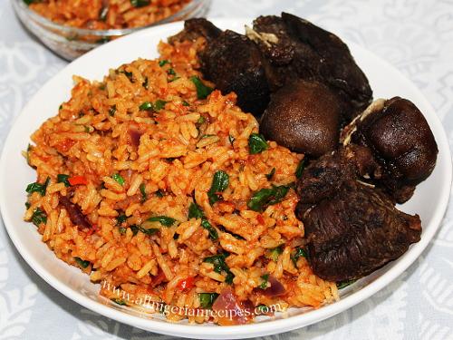 leafy jollof rice