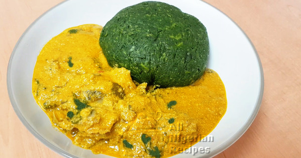 spinach fufu